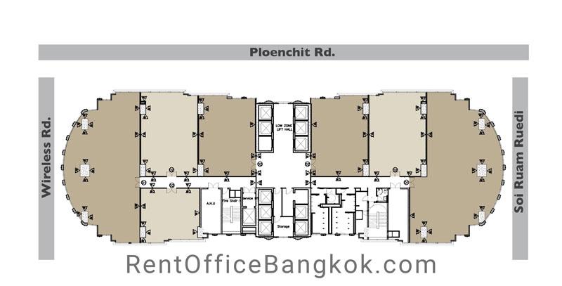 Athenee-Tower---Rent-Office-Bangkok-floor-plan