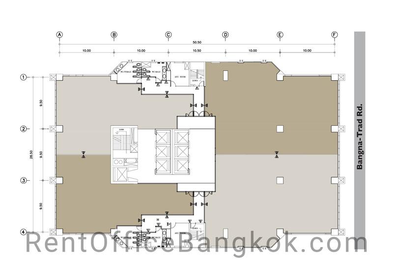 Interlink-tower-Rent-office-Bangkok-floor-plan